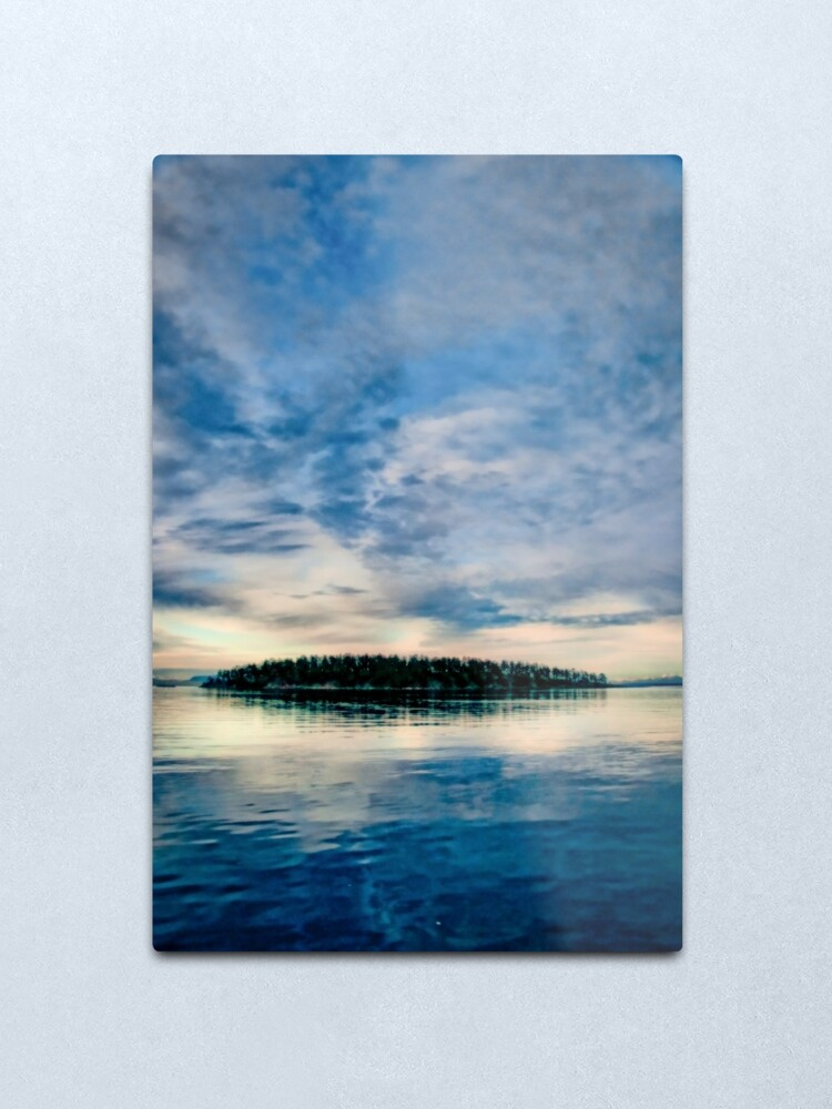 Alternate view of Georgeson Island at Sunset Metal Print