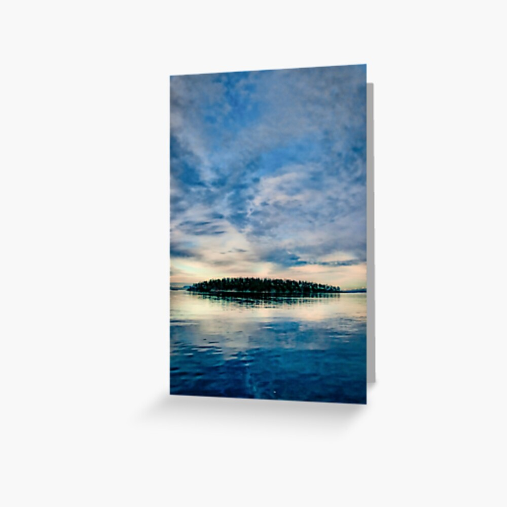 Georgeson Island at Sunset Greeting Card