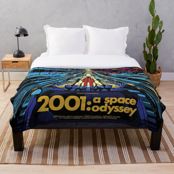 2001 A Space Odyssey Art Throw Blanket