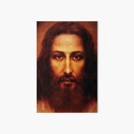 The Shroud of Turin Jesus Holy Face 201 Art Board Print