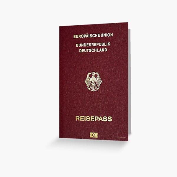 German Passport Cover  Greeting Card