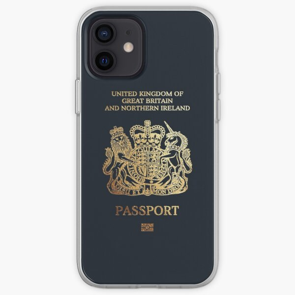 British Passport Cover  iPhone Soft Case