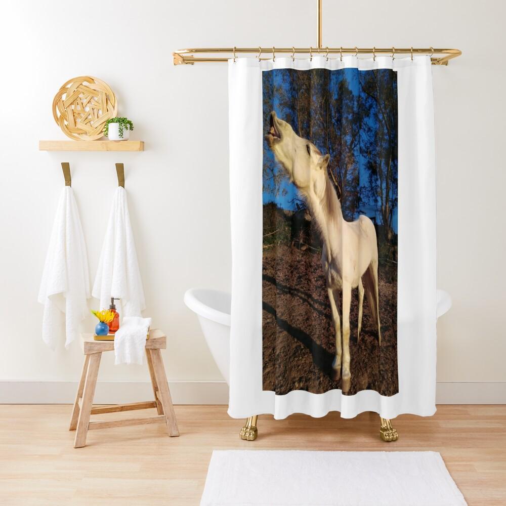 William laughing Shower Curtain