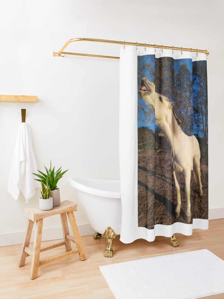 Alternate view of William laughing Shower Curtain