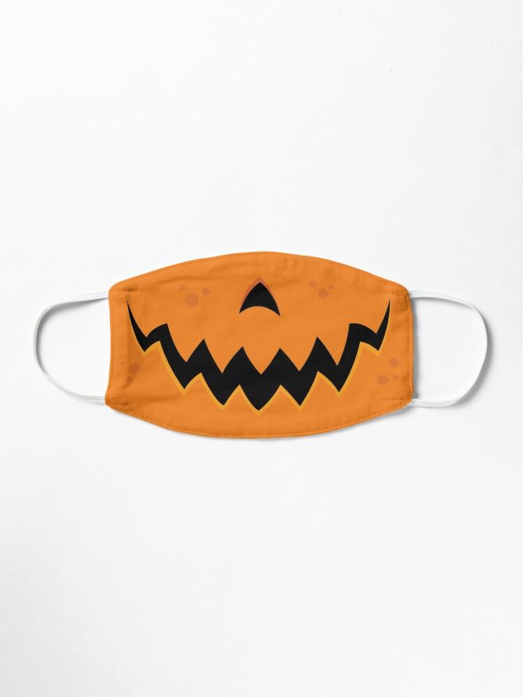Alternate view of Crazy Pumpkin Jack-O-Lantern Mouth Mask