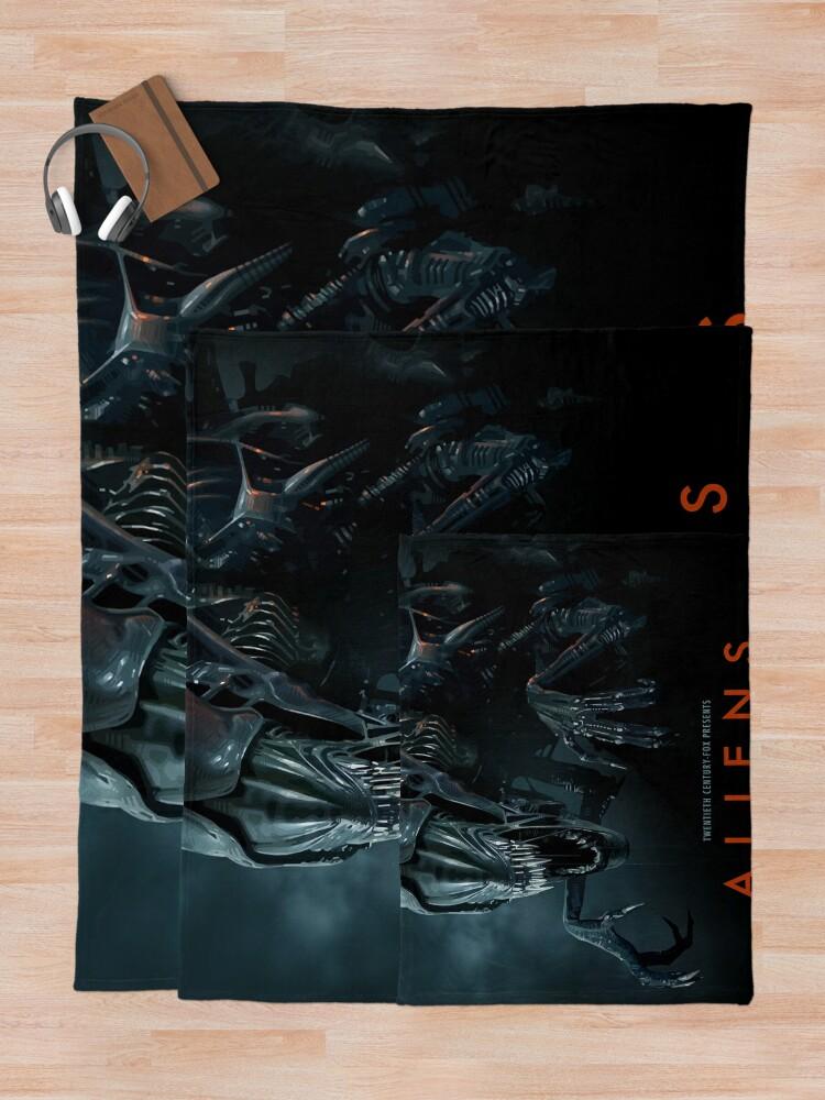 Alternate view of Alien 1979 Movie Art Throw Blanket