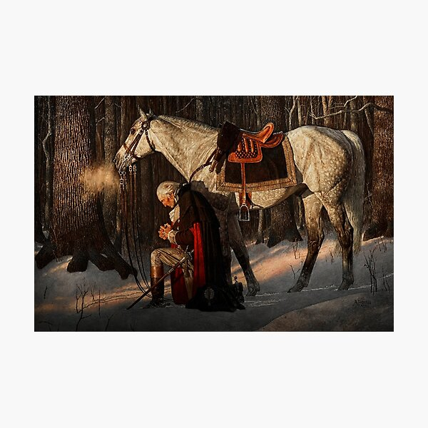 George Washington A Prayer at Valley Forge Photographic Print