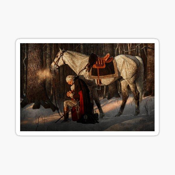 George Washington A Prayer at Valley Forge Sticker