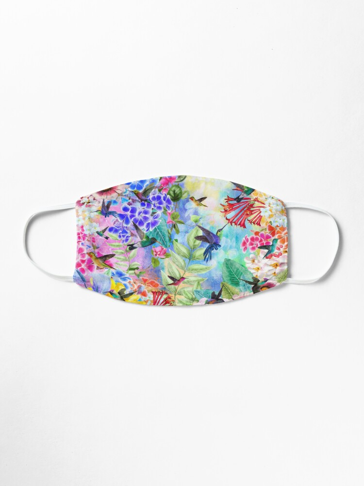 Alternate view of Humming Birds and Flowers Mask