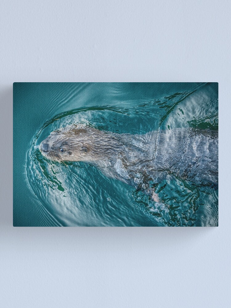 Alternate view of River Otter Canvas Print