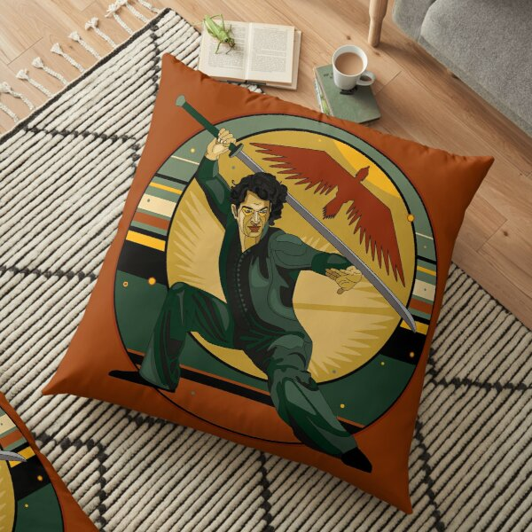Duncan on Guard Floor Pillow
