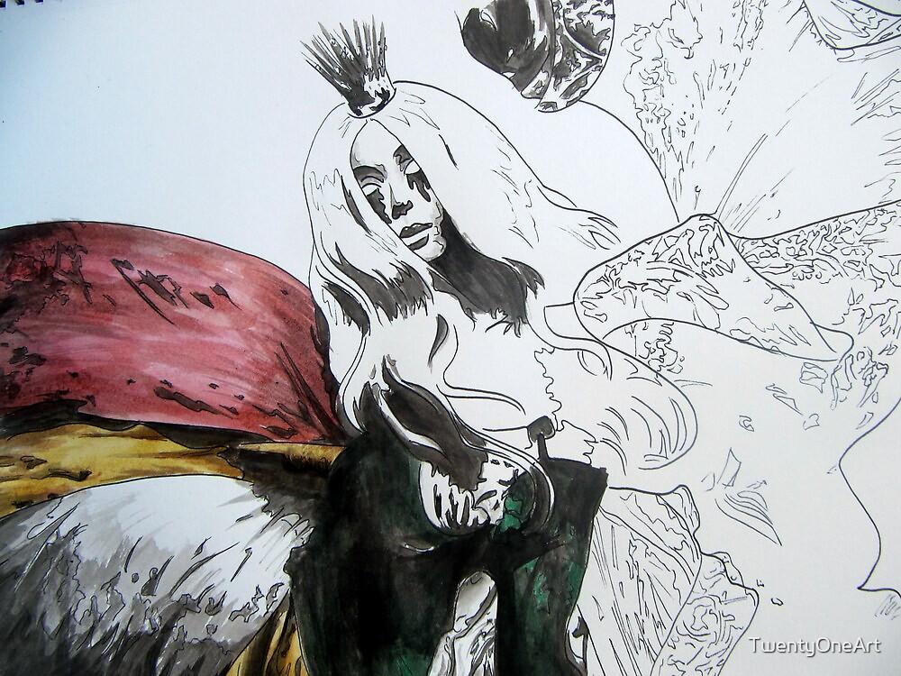The Queen by TwentyOneArt
