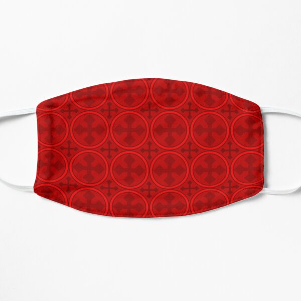 Greek Circle Cross in Red Flat Mask