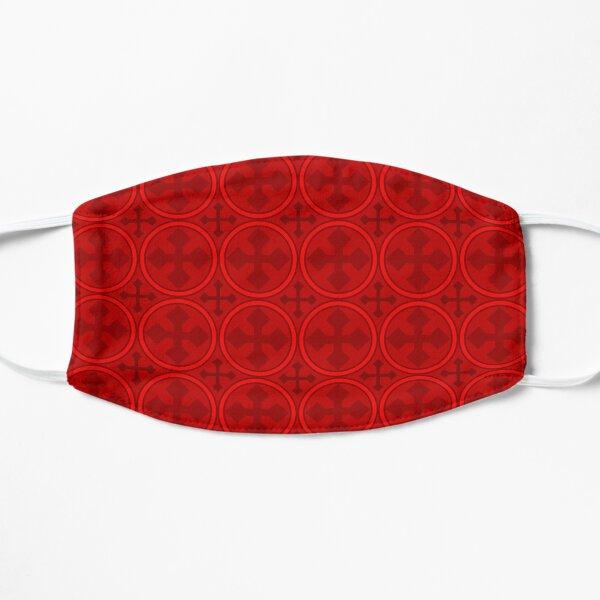 Greek Circle Cross in Red Flat Mask