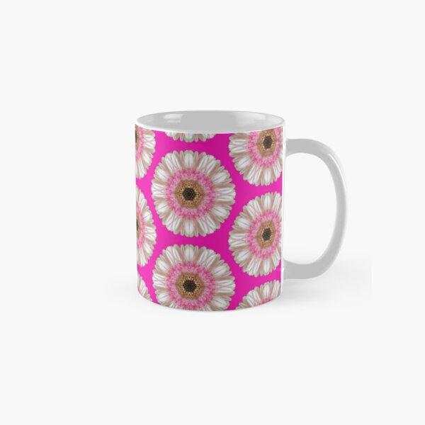 Pink gerbera on bright pink Classic Mug