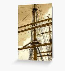 Barque Eagle Mast Greeting Card