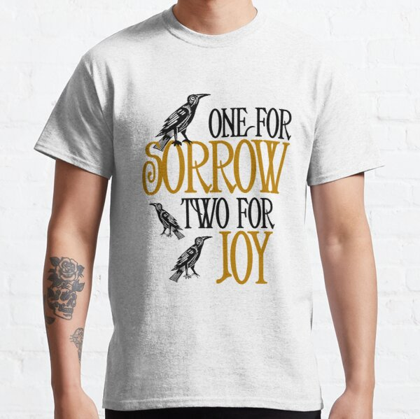 One For Sorrow, Two For Joy: Counting Crows Rhyme Classic T-Shirt