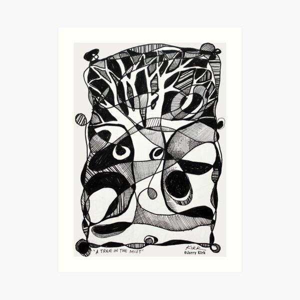 'A Tree in the Mist' Art Print