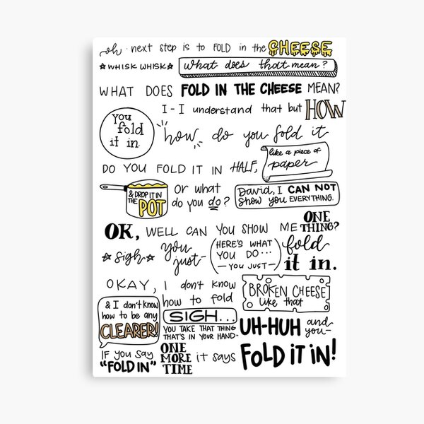 Fold in the Cheese Canvas Print
