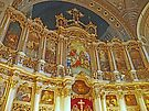 Iconostasis in Orthodox Cathedral of St George. by Graeme  Hyde
