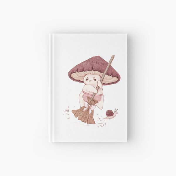 Angy mushroom does not like to clean  Hardcover Journal