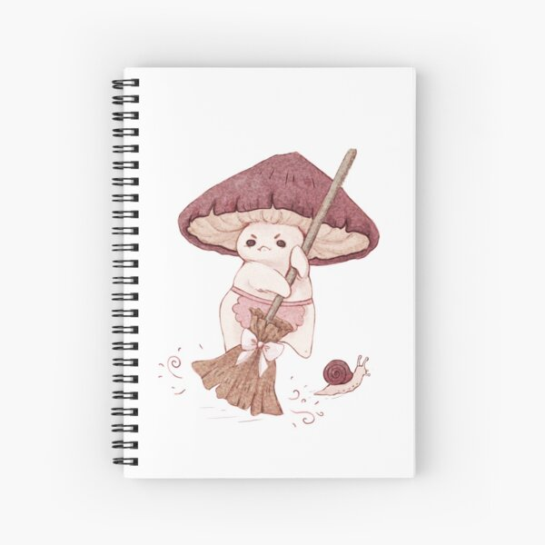 Angy mushroom does not like to clean  Spiral Notebook
