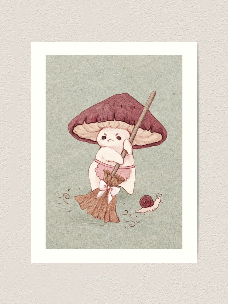 Alternate view of Angy mushroom does not like to clean  Art Print