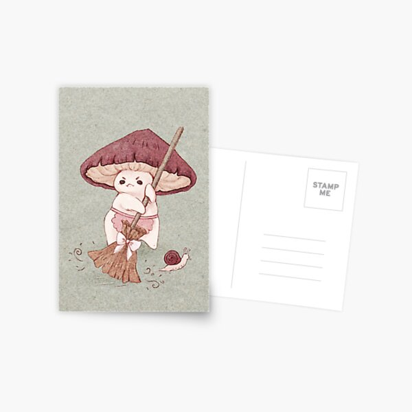 Angy mushroom does not like to clean  Postcard