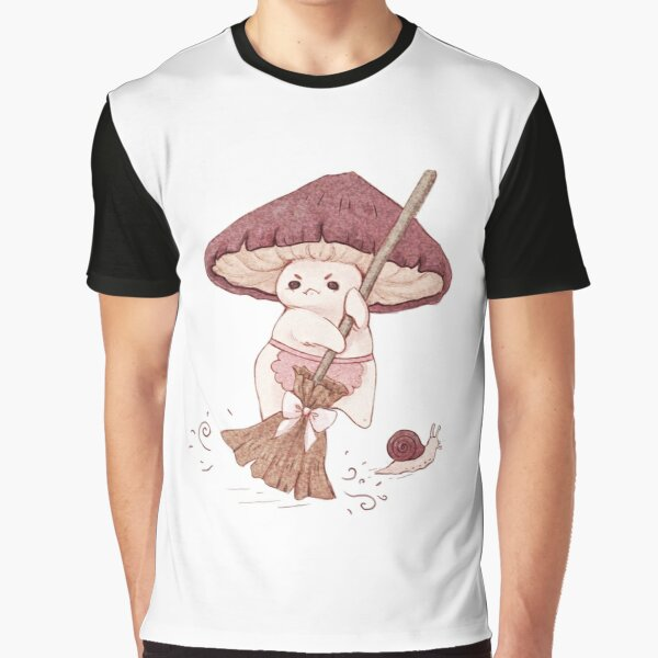 Angy mushroom does not like to clean  Graphic T-Shirt
