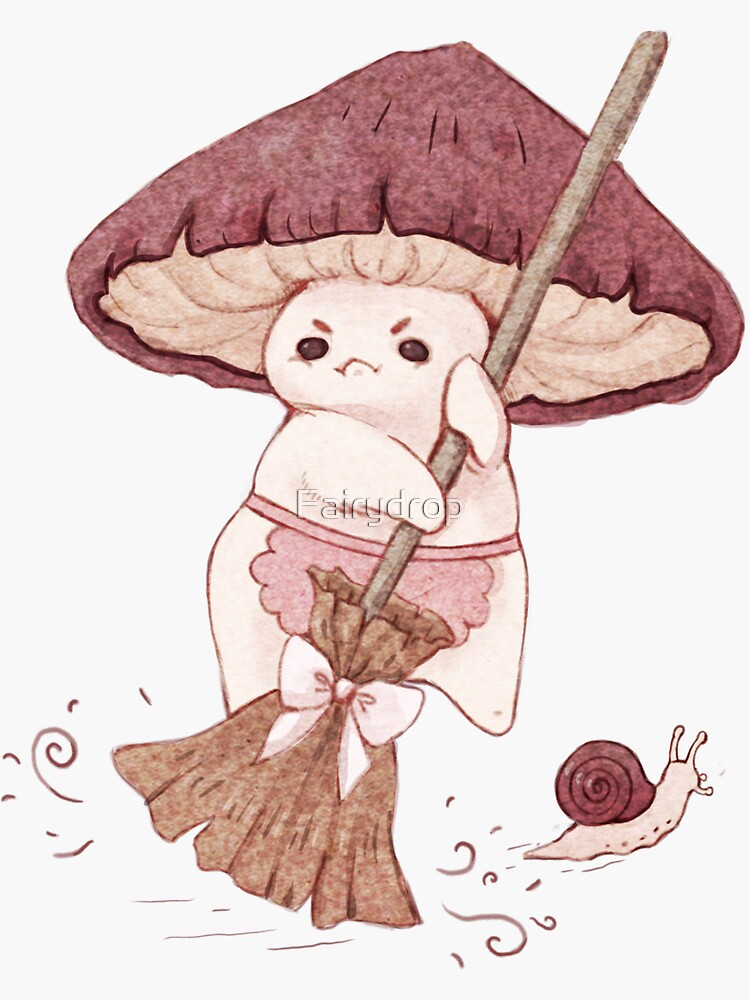 Angy mushroom does not like to clean  by Fairydrop
