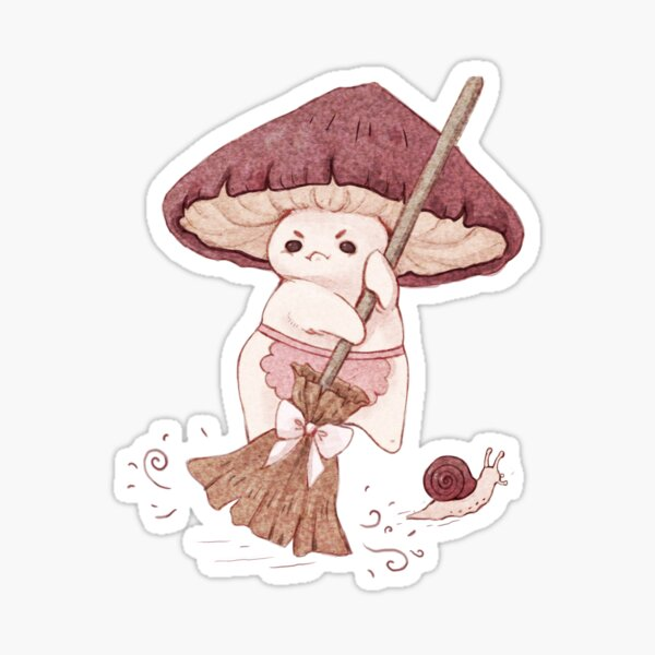 Angy mushroom does not like to clean  Sticker