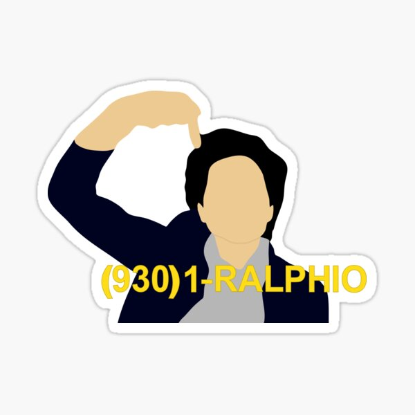 Jean Ralphio Saperstein Parks and Rec Sticker