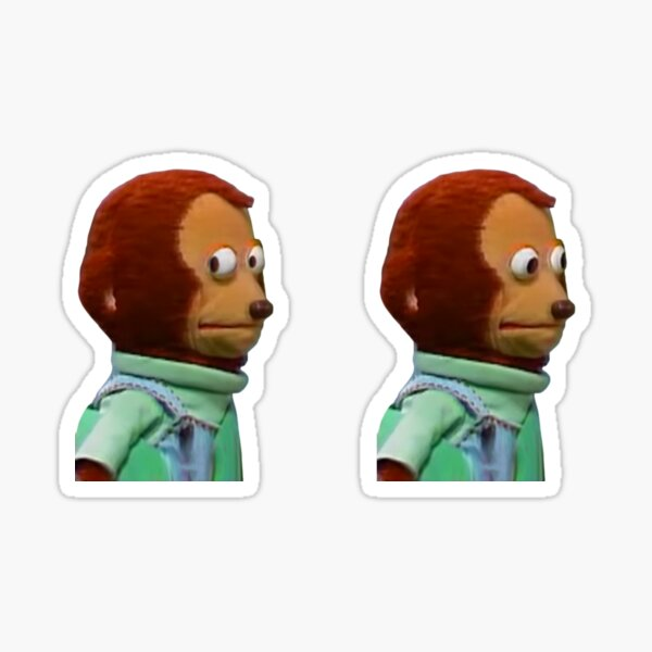 Monkey Stare Meme Sticker