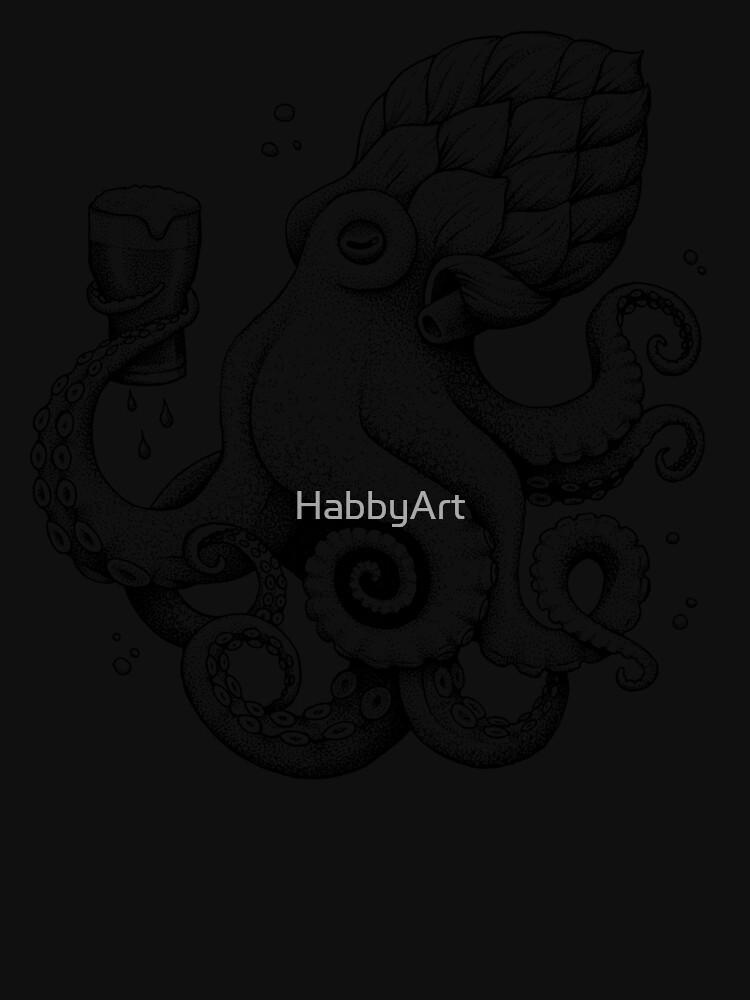 Hoptopus - The Beer Drinking Octopus by HabbyArt