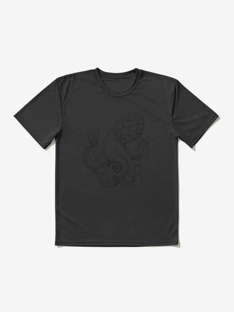 Alternate view of Hoptopus - The Beer Drinking Octopus Active T-Shirt