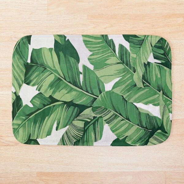 Tropical banana leaves VI Bath Mat