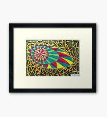360 - RAINBOW DESIGN - DAVE EDWARDS - COLOURED PENCILS - 2012 Framed Print