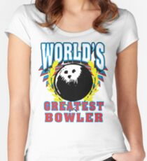 World's Greatest Bowler T-Shirt Women's Fitted Scoop T-Shirt