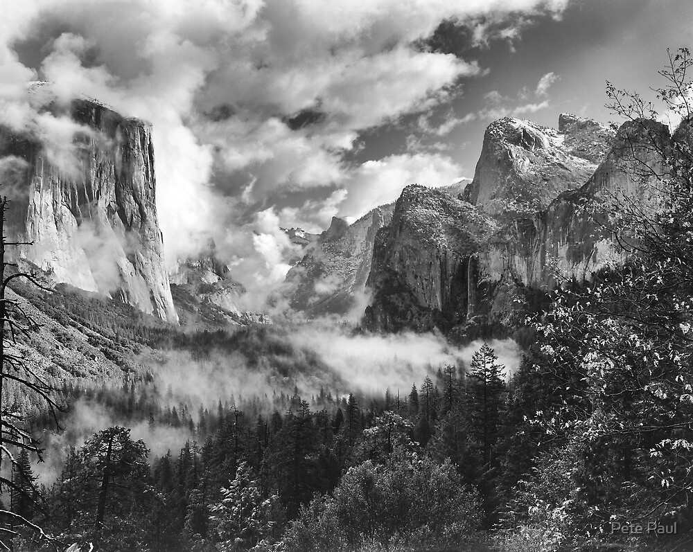 Clearing Spring Storm, Yosemite Valley, Yosemite National Park, California by Pete Paul