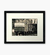 Vintage train carriage - explosives Framed Print