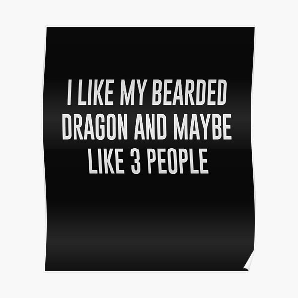 I like my bearded dragon and maybe like 3 people Poster