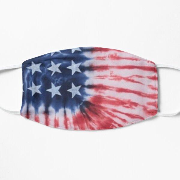 Tie Dye Patriotic Flag Flat Mask