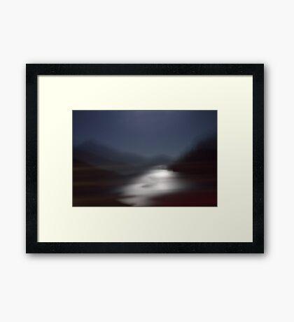Yosemite Moonlight (Into The Open Road) Framed Print