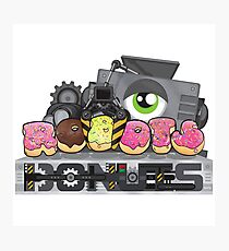 Robots and Donuts Photographic Print