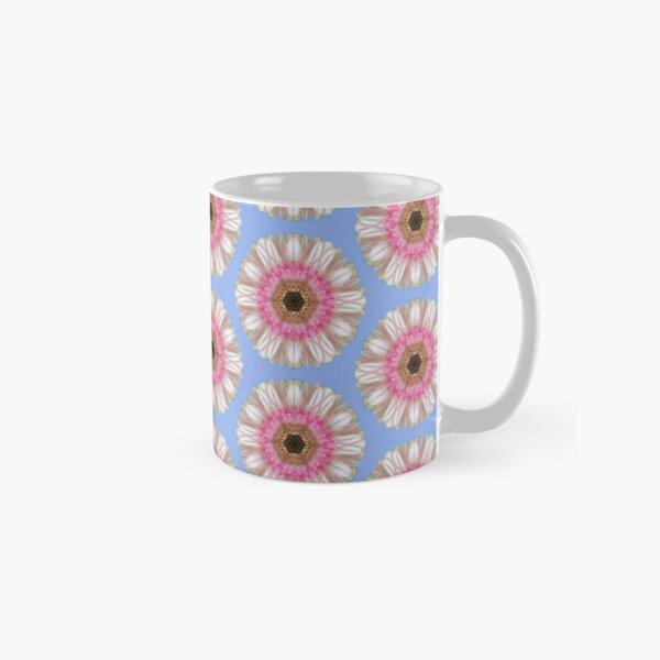 Pink gerbera on blue Classic Mug