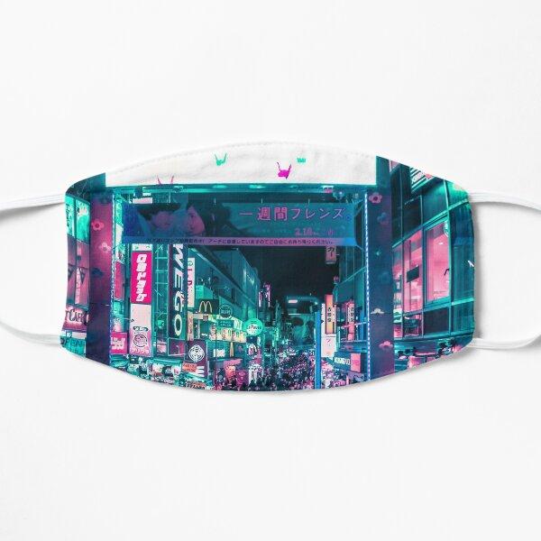 Tokyo's Neon-Lit Takeshita Street Mask