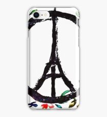 Pray for Paris flowers Sign peace and love iPhone Case/Skin