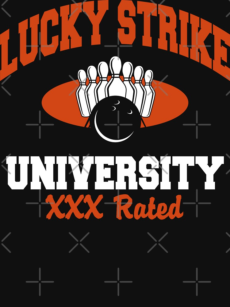 Lucky Strike University Bowling T-Shirt XXX Rated by SportsT-Shirts