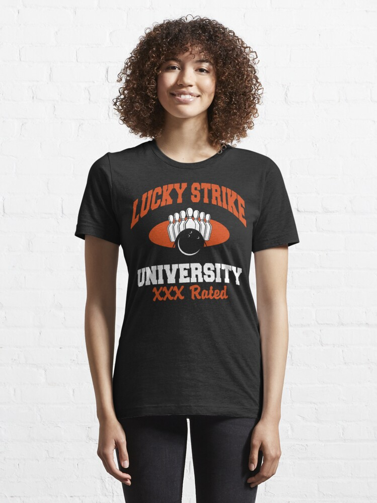Alternate view of Lucky Strike University Bowling T-Shirt XXX Rated Essential T-Shirt