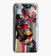 Dani Pedrosa and Nicky Hayden at laguna seca 2012 iPhone Case/Skin